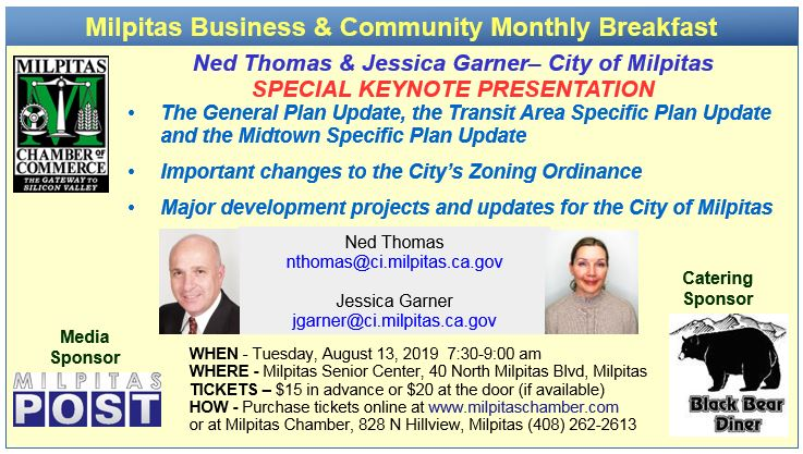 Milpitas Business and Community Monthly Breakfast @ Milpitas Senior Center