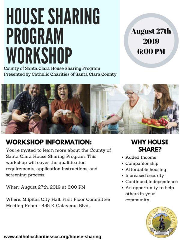 House Sharing Program Workshop @ Milpitas City Hall