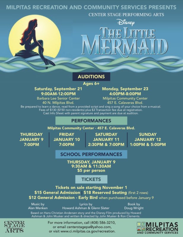 The Little Mermaid @ Milpitas Community Center