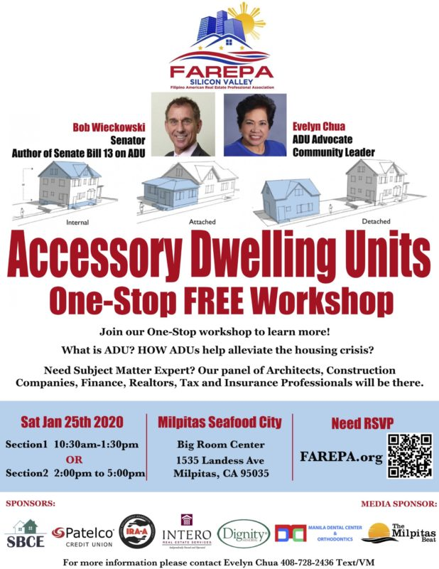 Accessory Dwelling Units One-Step Free Workshop @ Milpitas Seafood City