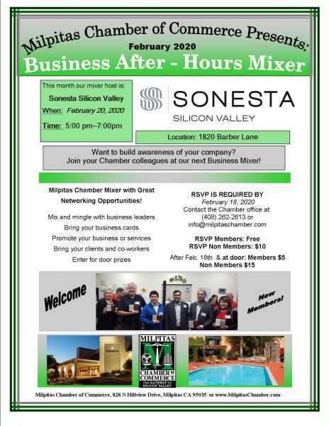 Business After Hours Networking Mixer at Sonesta Silicon Valley @ Sonesta Silicon Valley